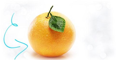 Небольшой грейпфрут